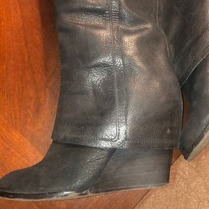 Vince Camuto leather knee boot